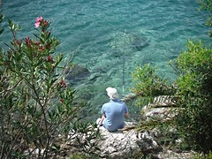 Fishing in the Adriatic Sea (Lydie's) Tags: sea water fishing fisherman croatia adriaticsea babinkuk