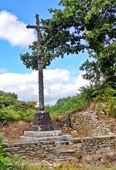 19 - Calvaire de Kernaman, dbut XX sicle, en kersantite (LOUIS TOSSER) Tags: france fleurs bretagne pierres paysages monts finistre calvaire mgalithe darre commana
