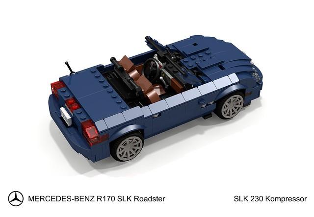 auto sports car k germany mercedes benz model lego stuck render 1996 convertible german 230 challenge 92 1990s 90s cad sportscar lugnuts roadster povray slk moc kompressor ldd vario miniland r170 lego911 varioroof stuckinthe90s mercedesbenzz
