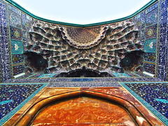 Imam Mosque, Esfahan, Iran (ChristopherNul) Tags: world travel art pattern iran mosaic muslim islam religion persia mosque backpacking tiles isfahan imam