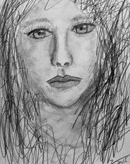 Portrait of Chlo Moretz (mikeeliza) Tags: portrait woman art girl beautiful pencil hair sketch long pretty artist philippines young manila eliza visual sketchpad 6b chlo moretz mikeeliza