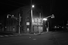12:35am (unknXwn) Tags: bw trafficlights sign midnight ghosttown intersection canon7d sigma1020f35