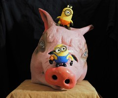 Climbing Hog Mountain (micro.burst) Tags: home fun pig mask disney minions olympusviewer3 olympusem10