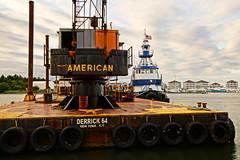 Tugboat Alantic Dawn & Derrick Barge 64 (thetrick113) Tags: vessel tugboat tug barge hdr mcallister dawnservice capemaynewjersey cranebarge derrickbarge atlanticservice workingvessel capemaycountynewjersey capemayharbor sonyslta65v derrick64 tugboatatlanticservice dawnoffshore dawnservicestugboat capemayharbortugboat seaisleharbordredging dawnoffshorecom