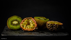 nature morte (amateur72) Tags: stilllife macro fruits studio fujifilm kiwi fruitdelapassion xt1 xf60mmmacro