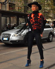 Milan Fashion Week spring/summer 2015 street style (Paulix Black) Tags: street city urban woman girl beauty hat smart fashion lady cool glamour italia boots candid milano moda style class glam chic elegant ankle fashionista luxury settimana stylish classy elegance fashionable lusso streetstyle
