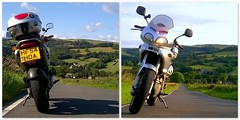 To & fro... (Mike-Lee) Tags: morning home mike bike collage work evening sleep sheffield picasa rest yas cagiva lowbradfield lowsandhighs cagivanavigator1000 july2015 onwaytoorhomefromwork