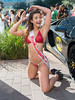 Miss Motorsports 2 (Ron Scubadiver's Wild Life) Tags: girl woman candid street style nikon outdoor houston texas 24120