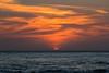 Cartagena Sunset (mclcbooks) Tags: landscape seascape sunset evening dusk clouds ocean sea caribbean water waves sky orange cartagena bolivar colombia birds