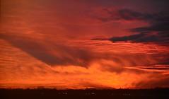 Bremen - Surreal Sunset (cnmark) Tags: germany deutschland bremen airport flughafen bre eddw sunset sonnenuntergang afterglow clouds amazing surreal colors colours dusk neuenland bremerneustadt city ©allrightsreserved
