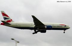 G-ZZZB LHR 21.5.16 (Mike stanners) Tags: boeing britishairways jet b777