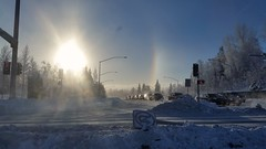 Sun dog in Anchorage (steve_scordino) Tags: