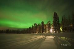 Lakeside Flare (http://www.richardfoxphotography.com) Tags: akaslompolo finland lake ice snow auroraborealis outdoors