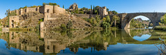 Toledo panorama (Howard Ferrier) Tags: arch militarybuildings bridge church toledo religiousbuildings puentedesanmartín panorama reflection unesco fortification themes medievaltown cathedral river waterway photography tagus architecture spain wall europe worldheritagesite riotajo stmartinsbridge castillalamancha es