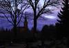 Not forgotten (Jutta Sund) Tags: church graveyard lanterns christmas grave sky dawn trees finland candles