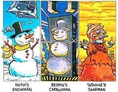 STARWARS_SNOWMEN (bortQ.) Tags: cartoon starlog magazine humor starwars 2001 apes vader hoth skywalker funny agg yoda jarjar scifi fantasy