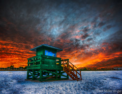 Sun-up at Siesta Key Beach (DonMiller_ToGo) Tags: cloudsonfire cloudporn sunrise beaches layers goldenhour photoshop sky clouds
