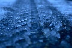 Frozen  trail (eugenio.mosca) Tags: nikon d5300 ice trail white snow mountain blue road ghiaccio strada pneumatico neve bianco congelato montagna blu