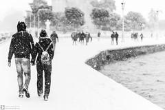 Love Snow (konstantinos.arvanitis) Tags: cities places thessaloniki paralia snow bw blackwhite iseethessaloniki winter outdoor white whitetower monochrome