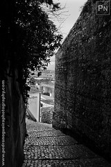 Castle walls (Pedro Nogueira Photography) Tags: pedronogueira pedronogueiraphotography photography iphone5 iphoneography portugal blackandwhite monochrome outdoor streetphotography