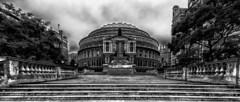 Royal Albert Hall friday morning (Trond Sollihaug) Tags: royalalberthall london kensington princeconsortroad blackandwhite monochrome nik nikcollection canon efs1822 city gb