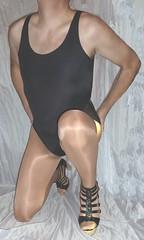 00068 (bibi anne) Tags: high heel boots tall crossdresser leotard pantyhose cd tv transvestite tranny tgirl swimsuit nylon transdgender cfm sandals skirt xdresser trans transgender tg black overknee crotch leather wetlook dress skintight skinny tight lycra spandex heels granny shoes shiny milf highheels gladiator pvc