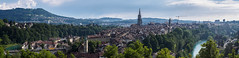 138/365: Bern, Panorama (haslo) Tags: summer panorama schweiz switzerland day olympus projection stitching bern rosengarten omd em1 project365