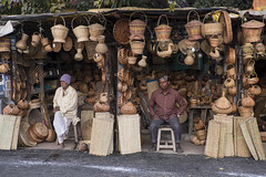 Brown  ( Explore ) (Dick Verton ( more than 13.000.000 visitors )) Tags: travel people brown india shop waiting asia sitting sit seated vendors