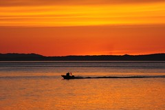 Sunset on Trincomali Channel (D70) Tags: sunset red orange canada net fishing bc vessel columbia british channel galianoisland trincomali