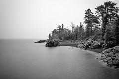 Hunter's Point (Kevin Pihlaja) Tags: longexposure lake nature fog landscape michigan shoreline hunterspoint upperpeninsula lakesuperior copperharbor keweenaw ndgrad leefilters leebigstopper