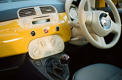 Sophie's car (Dave Green Photo) Tags: leica colour film car analog italian fiat kodak iso400 scan analogue portra m6 fiat500 leicam6 wideopen shallowdof 2015 portra400 agphotographic