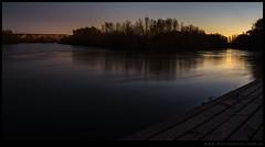 Otro atardecer de otoño en el río Negro