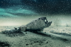 Last Snow (Noro8) Tags: winter snow lines last photoshop plane frozen cool scenery mood apocalypse style atmosphere doe processing brushes land wreck wrecked postapocalypse noro8