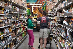Shoppers at Rainbow Grocery (cooli_#1) Tags: california street food men girl photography photo rainbow nikon women san francisco walks shoot outdoor district bart 85mm mexican mission trucks grocery nikkor 18 tough d3
