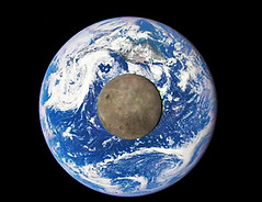 Moon and Earth from a satellite a million miles out (terryballard) Tags: moon earth nasa