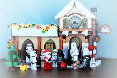 Christmas Requisition (DocChewbacca) Tags: christmas lego toy starwars stormtrooper stormtroopers minifig darthvader darkvador santaclaus pèrenoël santa xmas empire toyphotography