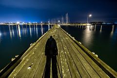 Pier by Night (simon.eggert) Tags: 12mm 6300 alpha f2 f20 ilce6300 langzeitbelichtung longexposure malmö rokinon samyang schweden sony sweden travel trip walimex winter wideangle öresund shadow pier harbor port