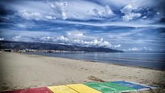 Spiaggia di Siponto - Manfredonia (luigi_lauriola) Tags: colore mare passerella nuvole città orizzonte
