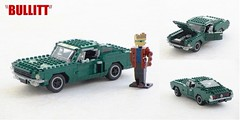 Bullitt Mustang Fastback (Mad physicist) Tags: lego ford mustang fastback 390gt movie bullitt stevemcqueen