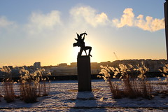 Millesgården, Stockholm (°* Jazine °*) Tags: lumière statue snowden neige suède  stockholm millesgården