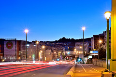 City at night (Sizun Eye) Tags: bluehour night dusk suresnes hautsdeseine iledefrance france bridge lights lighttrails city sizuneye nikond750 nikon d750 tamron2470mmf28 tamron 2470mm longexposure poselongue le leefilters lee