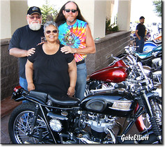 Aug 2009 - Myself, Cuca and Rick Fairless -- member of the Hamsters -- during Rally (lazy_photog) Tags: lazy photog elliott photography sturgis motorcycle rally south dakota biker babes bikini bike wash hamsters design club car rick fairless builder dallas texas