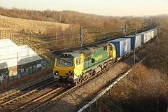 70013 South Kirkby, West Yorkshire (DieselDude321) Tags: 70013 class 70 freightliner 4e22 0550 felixstowe north flt leeds freight liner terminal south kirkby west yorkshire