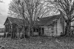 Jefferson County Home (nmclark100) Tags: abandoned house home bw monochrome jeffersoncounty madison indiana broken farm decay ghostly haunting midwest