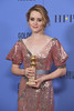 BEVERLY HILLS, CA - JANUARY 08: Actress Claire Foy, winner of Best Actress in a Television Series
