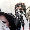 two women (piktorio) Tags: veil berlin germany decollage street detail wallpaper poster ripped lacerated torn advertising remnants fragments photos eyes culture clash religion islam oriental style piktorio