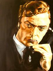 Michael Caine (artist - Niall Drew) (KlaatuCarpenter) Tags: artwork portrait nialldrew michaelcaine