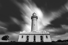 Macquarie Lighthouse (I don't take photos, I create images) Tags: clouds landscape lighthouse sydney australia longexposure architecture architectural sky blackandwhite bnw bw monochrome blancoynero building