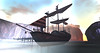 The Invictus. A pirate ship from Tyros (Eats blue crayon) Tags: secondlife gorean roleplay