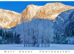 Snow in Yosemite?  No Way! (Matt Grans Photography) Tags: yosemite snow california valley mountains trees shadows